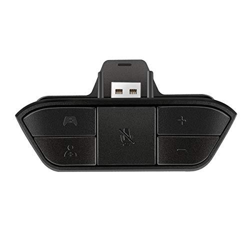 Greatangle-UK Adaptador de Auriculares estéreo Negro Adaptador de Audio para Auriculares Convertidor de Auriculares para Microsoft Xbox One Controlador de Juegos inalámbrico Negro