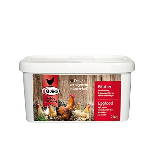 Quiko Hobby Farming – Nourriture pour œuf 2 kg – est Un Aliment Riche en protéines pour Poules, cailles et volailles.
