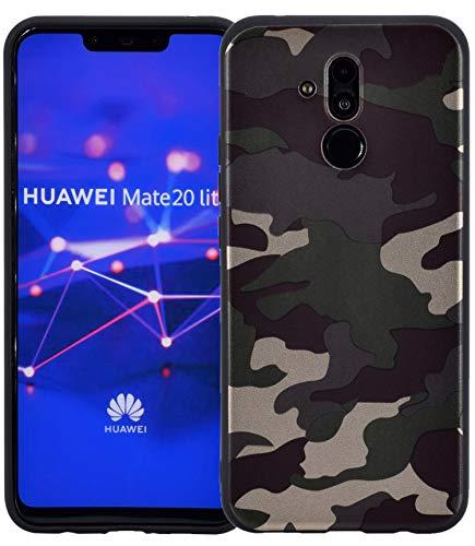 Favory Camouflage Design Silikon Case Premium TPU Hülle für Huawei Mate 20 Lite Tasche Schutzhülle Cover Shop