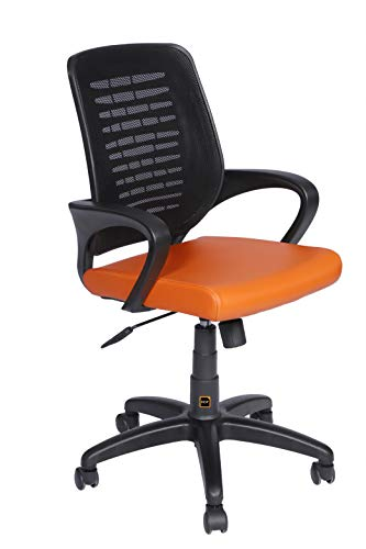 HOF Office Chairs Computer Chairs with Ergonomics Design, Leatherette Seat Height Adjustable & Comfortable Fixed Armrest Executive...