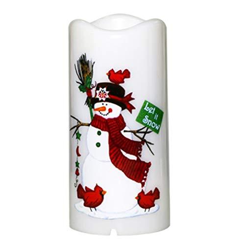 Delaspe LED Kerze Projektion Licht 2-in-1 Projektionslampe ohne Flamme für die Dekoration von Partys zu Hause Weihnachten