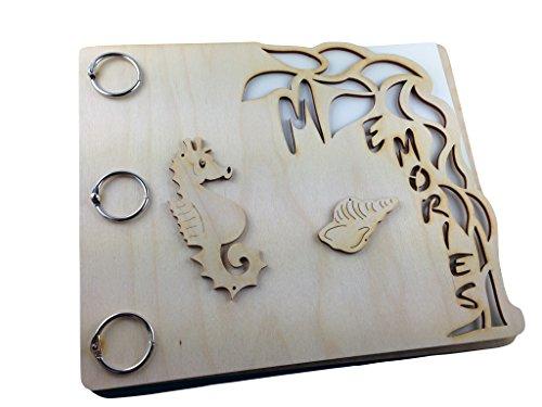 Petra's knutsel-News A-MEB3225MA knutselset, geheugenboek 'Memories', hout/papier, afmetingen ca. 25 x 20,5 cm