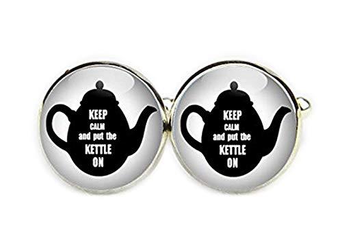 Keep Calm und Tee Topf Manschettenknöpfe, Custom Keep Calm and Manschettenknöpfe