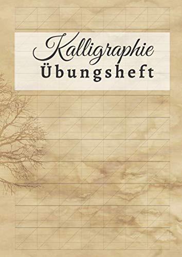 Kalligraphie Übungsheft: DIN A4 | 110 Seiten | Schönschreiben Handlettering Übungspapier Schreibschrift