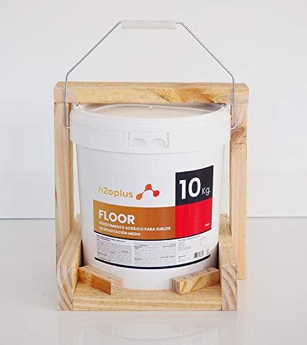 Pintura para Suelos Exterior e Interior Floor Rojo 10Kg · Pintura para Suelos Garaje, Hormigon, Asfalto o Baldosa · Producto Natural 100% en Base Agua, SIN Olor a Disolventes Químicos