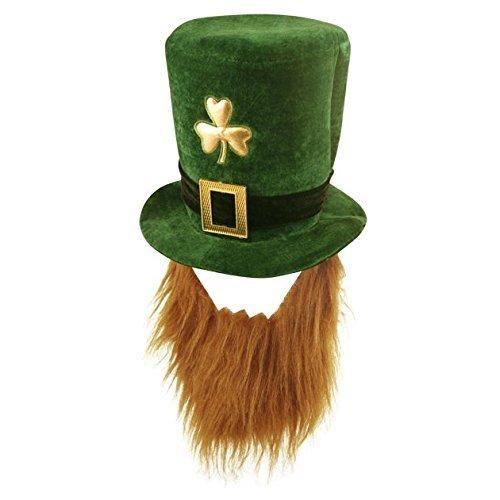 Terciopelo del trébol Sombrero Con Barba - Día de San Patricio