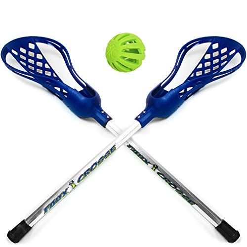 Marky Sparky Faux Crosse - Easy to Play Lacrosse with Two Crosse Sticks and Ball