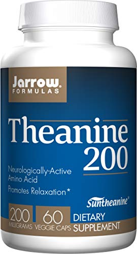 Jarrow Formulas Theanine 200, Promotes Relaxation, 200 mg, 60 Count