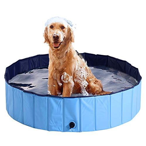 HyAdierTech Piscina Perros y Gatos Bañera Plegable, Piscina para Niños, Speed Piscina de Baño Ducha Plegable para Mascota Bañera Portátil, PVC Antideslizante y Resistente al Desgaste