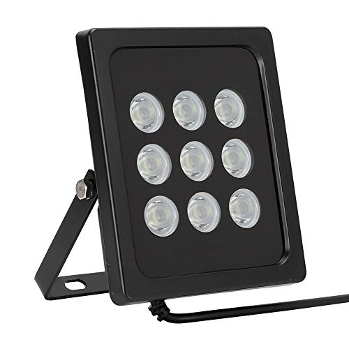 DAUERHAFT Fülllicht Starke Wärmeableitung Eingebautes Lichtsensor-Überwachungslicht für Sicherheits-CCTV-Kamera Black Shell