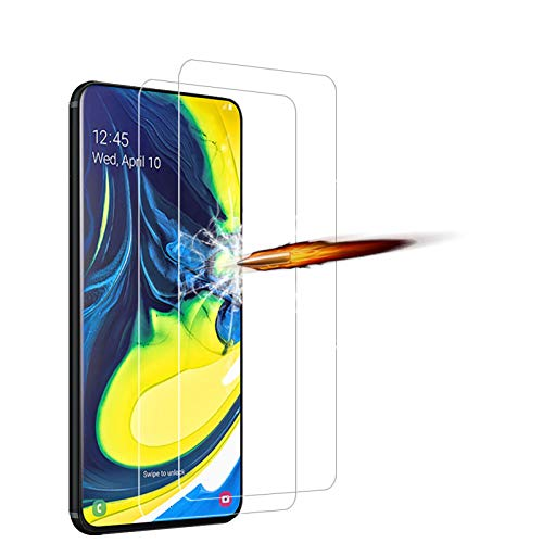 ANKENGS Samsung Galaxy A80 Panzerglas [2er Pack], Samsung A80 Schutzfolie Panzerglas, [Kratzfest] [Anti-Schaum] Samsung Galaxy A80 Bildschirmschutzfolie