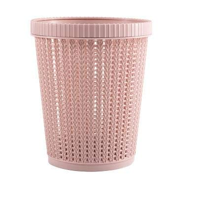 Live4Gadgets Bin, Hollow Garbage Bin, trash can, Storage Basket with Built-in Garbage Bag Box Coverless for Home, Kitchen Trash Can for Bathroom, Portable Plastic Grocery Dispenser Garbage Bag