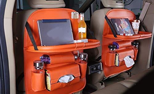 Organizador universal de almacenamiento en el respaldo del asiento del automóvil con múltiples bolsillos Soporte para tableta móvil iPad Alfombrilla impermeable para protector de asiento trasero (paqu