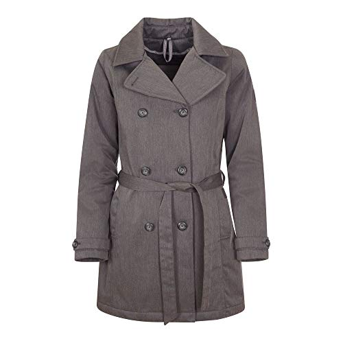Elkline OUTALLDAY Coat Damen Winter Trenchcoat, Deutsche Größen:42, Farben:Anthra