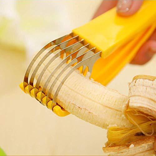 Inicio Obst Gurken Bananenschneider Erdbeer Stiel Entferner Ei Schnitt Schinken Wurst Obstschneider Küchenhelfer Gemüseschneider