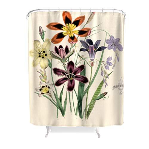 Dofeely Douchegordijn, bloemenmotief, waterafstotend, met levendige kleuren, cadeau voor familie
