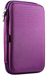 Navitech Purple Hard Protective EVA Case Cover Compatible with The OYYU T81...