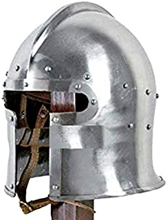 Thor Brand Functional Medieval Flared Barbute Fighting Combat Helmet Steel SCA LARP