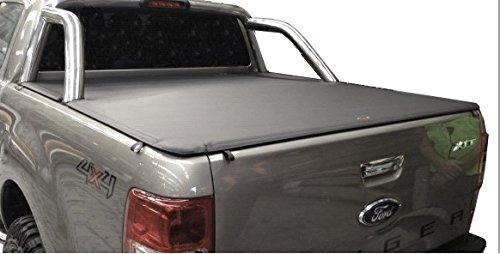 Lona de cubierta de equipajes para Ford PX Ranger Dual Cab, compatible con barras de deporte originales