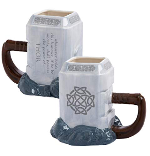 Taza de forma de martillo de Thor tridimensional 3D taza de agua de animación de gran capacidad taza de cerámica taza de martillo