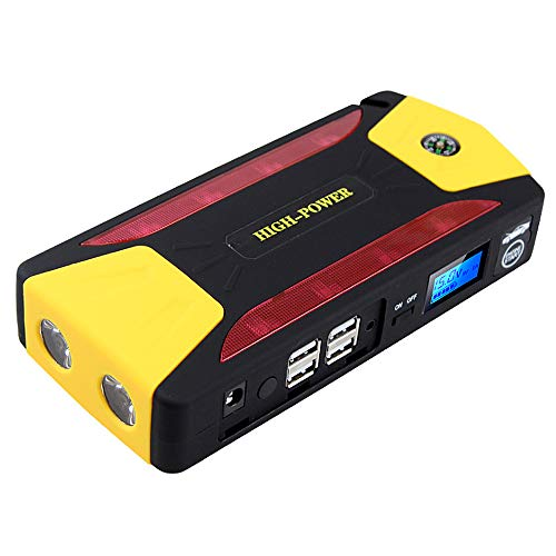 Car Battery Booster Jumpstarter Pack For 6.0L Vehicle Gas Engine, 3.0L Diesel Guluman 800A 19800mAh Portable Car Jump Starter Power Bank with SOS Flashlight