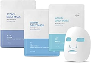 [NEW] Atomy Daily Mask Sheet 3 Type Combo 30 Pack- Moisture & Brightening,Cooling & Soothing,Moisture & Brightening アトミ 自然由来の成分と4つの特許成分マスクパック(並行輸入品)