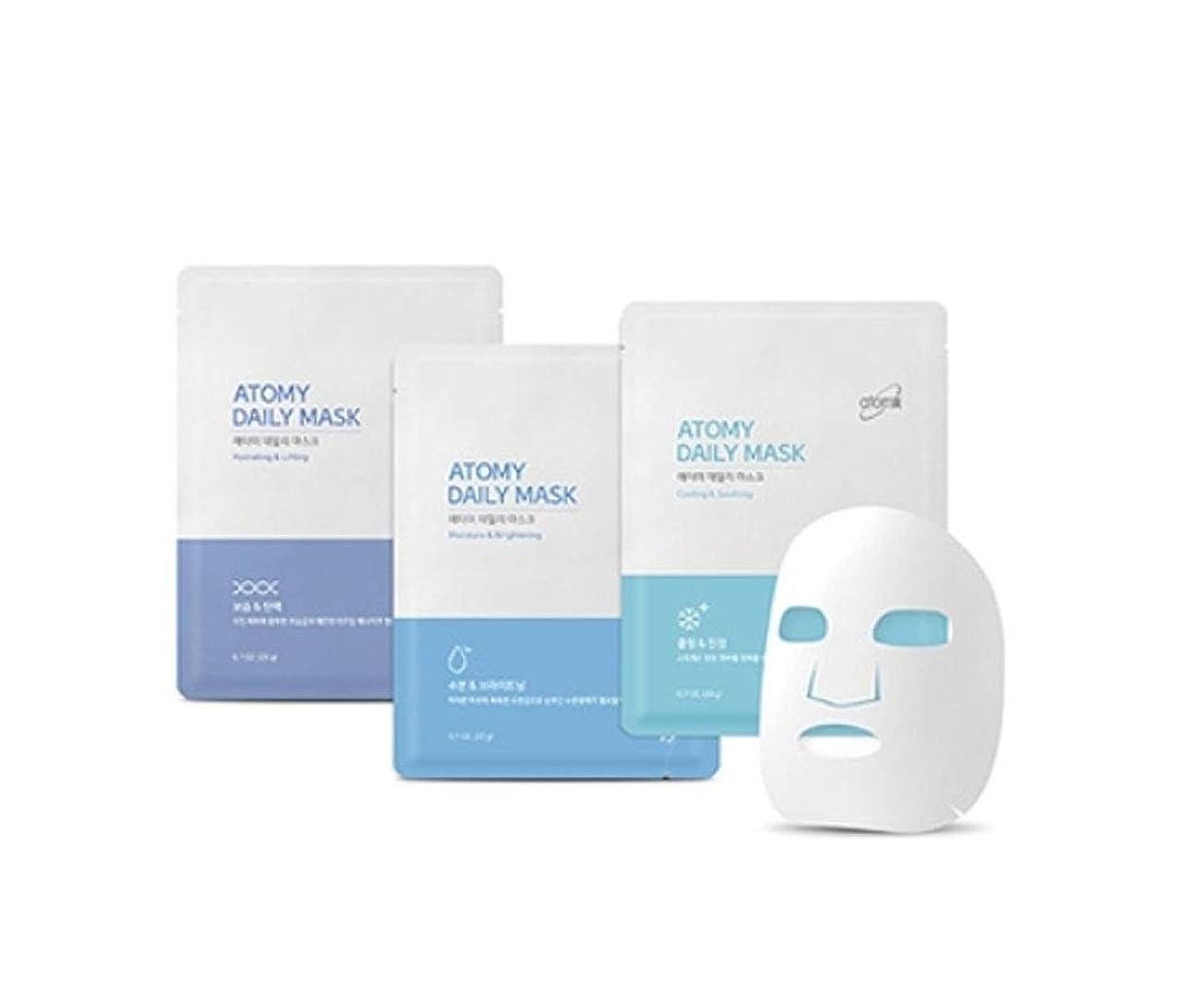 滅多平らな見分ける[NEW] Atomy Daily Mask Sheet 3 Type Combo 30 Pack- Moisture & Brightening,Cooling & Soothing,Moisture & Brightening アトミ 自然由来の成分と4つの特許成分マスクパック(並行輸入品)