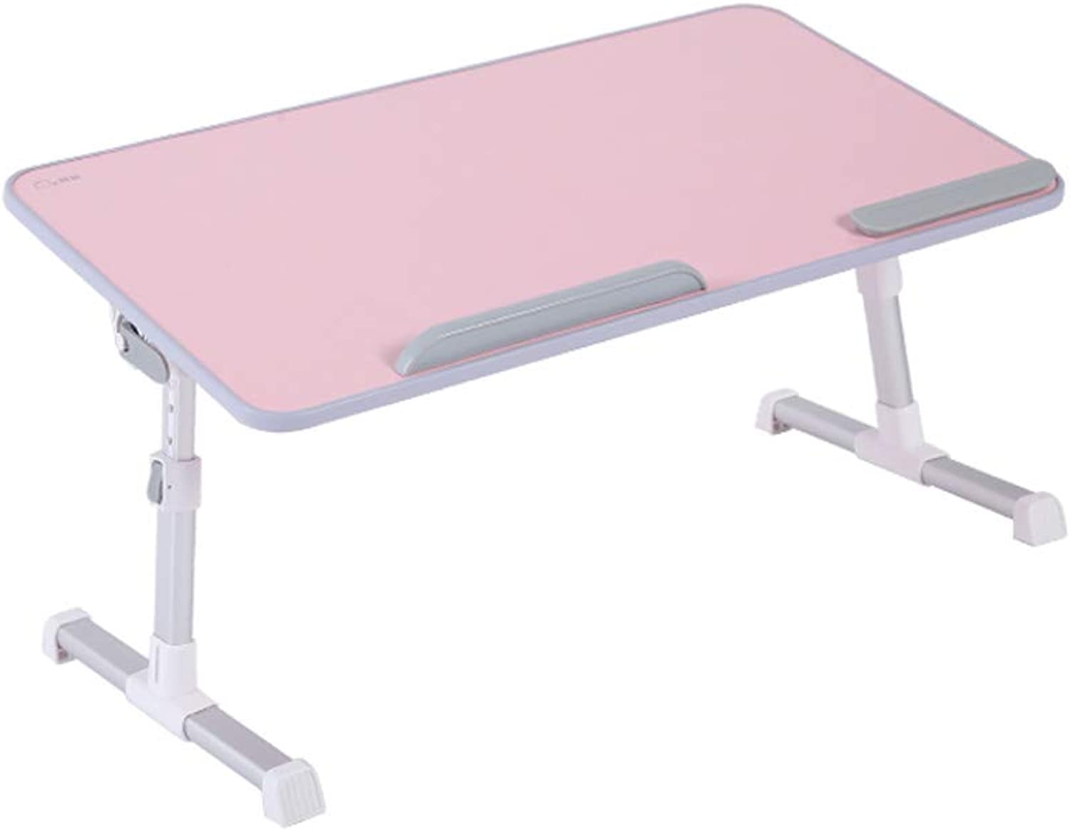 CQ Pink Bed Desk Foldable Lifting Small Table Female College Dormitory with Lazy Laptop to Make Table