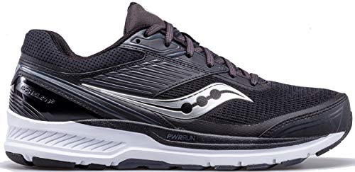 Saucony Mens Echelon 8, Black/White, 10.5 Wide