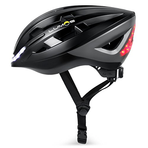 Lumos Kickstart Lite Fahrradhelm, Charcoal Black, One Size