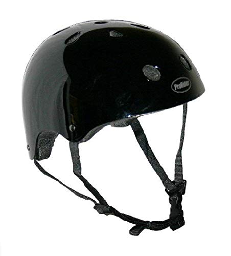 Pro-Rider Classic Bike & Skate Helmet (Black, Small/Medium)
