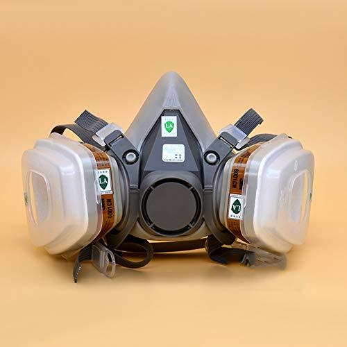Luckguy 7 in 1 Gesichtsmasken Halbanzug für 3M 6200 Gas Spray Painting Protection Respirator