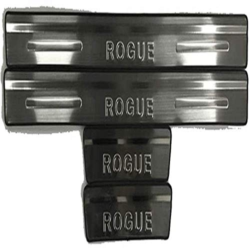 BDBT 4 Pieces Of Stainless Steel Door Sill Guards, Automotive Stainless Steel Door Sill Accessories, Stainless Steel Door Sill Guards, Car Door Sill Device, For Rogue Sport 2014 2015