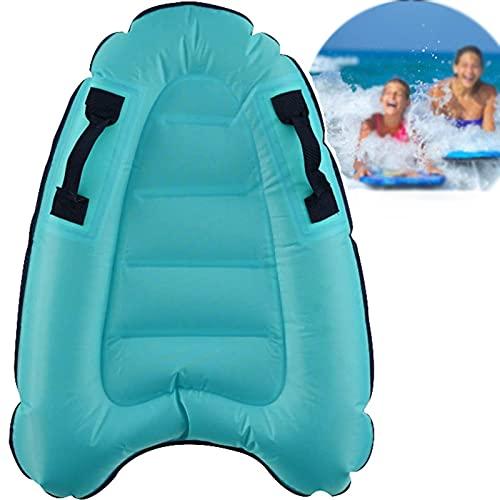 Tabla de surf hinchable con asas, tabla de surf para piscina, piscina, piscina, piscina, surf, natación, equipo para niños, tabla de surf (azul)