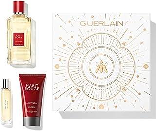 Guerlain Habit Rouge for Men Eau de Toilette 100ml+10ml Mini+75ml Sg Set