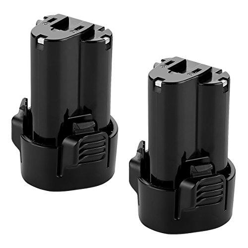 OPSON - Batteria sostitutiva agli ioni di litio, 10,8 V, 2,5 Ah, per Makita BL1013 BL1014 194550-6 194551-4 DF030D DF330D TD090D, 2 pezzi