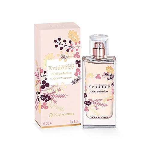 Yves Rocher COMME UNE EVIDENCE Collector Comme une Evidence - Perfume para mujer con rosa y mandarina, 1 vaporizador de 50 ml