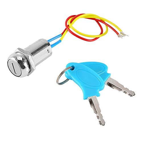 ANGGREK Llave Contacto Moto, Interruptor de Encendido de 2 Cables con Llaves,...