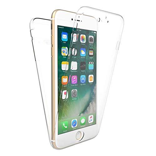 "TBOC Funda para Apple iPhone 7 Plus - iPhone 8 Plus [5.5""] - Carcasa [Transparente] Completa [Silicona TPU] Doble Cara [360 Grados] Protección Integral Total Delantera Trasera Lateral Móvil Resistente"