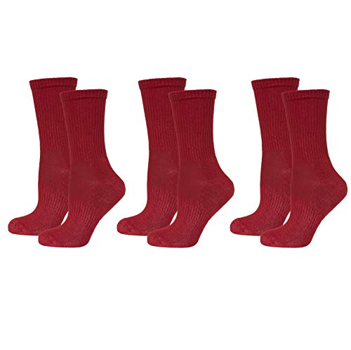 Safersox Mückensocken-Sportsocken Socken - 3er Vorteilspack Bordeaux-Rot, 39-42