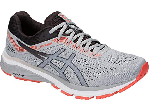 ASICS Men's GT-1000 7 Running Shoes, 11.5M, MID Grey/Phantom