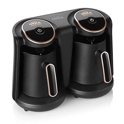 Arzum OKKA Minio Duo Kaffeemaschine, 1-8 Tassen Fassungsvermögen, waschbare Kaffeekanne, Akustisches Alarmsystem, kompakte Bauweise, 880W Leistung, Kaffeemesslöffel
