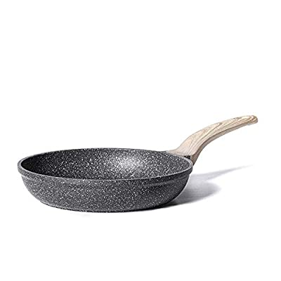 Carote 8 Inch Nonstick Skillet Frying Pan Egg Skillet Omelet Pan, Nonstick Cookware Granite Coating from Switzerland,Black