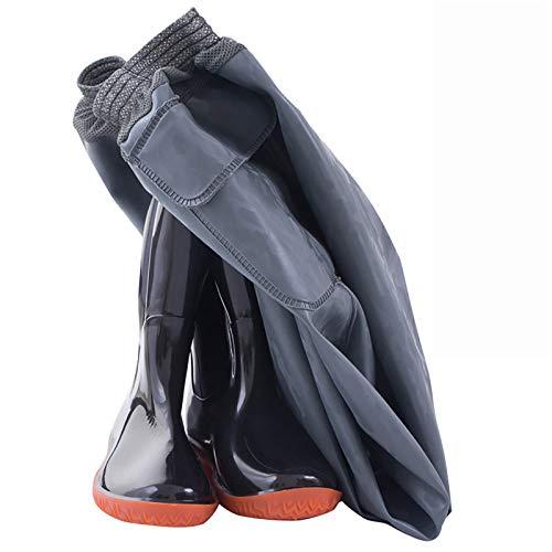 Pantalones De Pesca, Vadeadores De PVC Cuerpo Completo - Pesca Para Hombres Con Botas Uso Mosca, Caza Patos, Inundaciones Emergencia 100% Impermeable,Azul,EU43