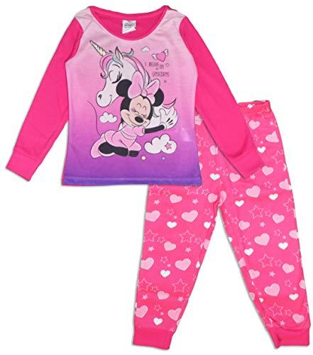 Minnie Mouse Mädchen Lang Pyjama Einhorn Schlafanzug