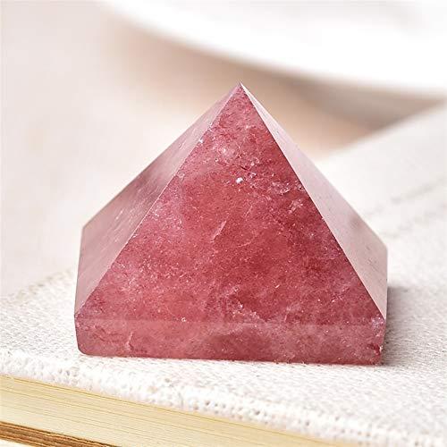 ZTTT Natürlicher fluorit kristall pyramidenquarz Stein kristall Tiger wye Point wohnkultur Handwerk von edelstein Stein 1 stück (Color : Strawberry Crystal)