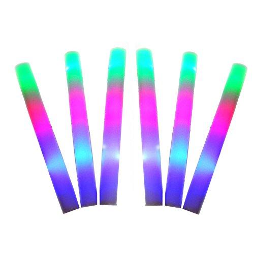 Beetest 12 Pcs LED coloré Concert Party Club Cheer éponge Glowsticks Glow Sticks