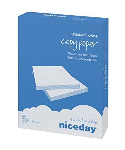 Niceday Kopierpapier, A4, 80 g/m², Weiß, 500 Blatt pro Ries