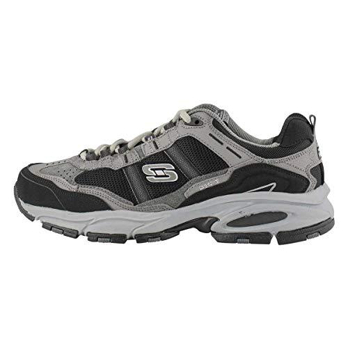 Skechers Men's Vigor 2.0 Trait Lace Up Running Shoe- Wide Charcoal 10.5 Wide US