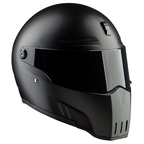 Bandit Helmets Alien II ECE 22-05,geprüft,Kopfbelüftung,Motorradhelm, Sports-Farbe:Dull Black, Größe:L(59/60)